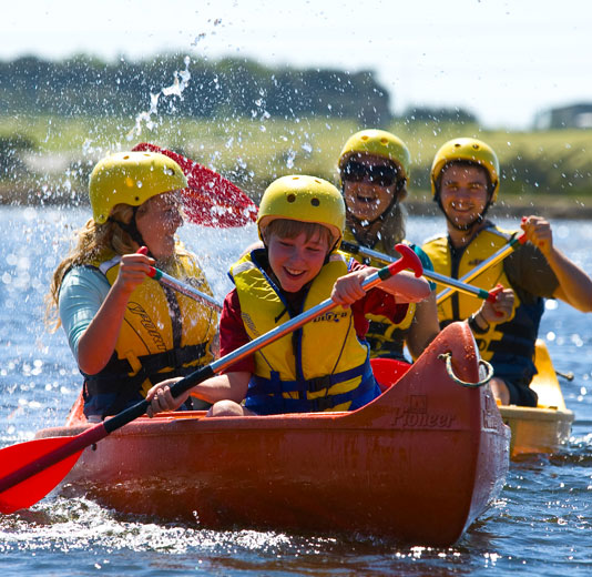 Canoeing - Enjoy canoeing or raft making on our 10 acres of lake.