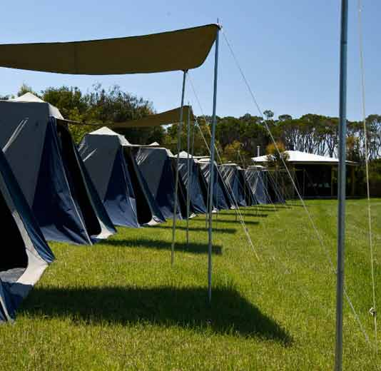 Tent Camping - Don't like indoors? Experience all the fun of and challenges 'real camping' & its associated activities instead.